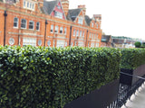 Artificial boxwood window box balcony planters London