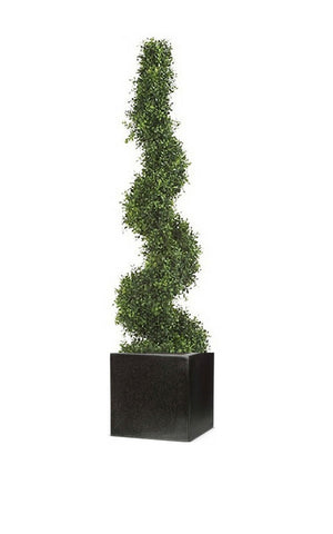 Artificial Boxwood Spiral Topiary Tree