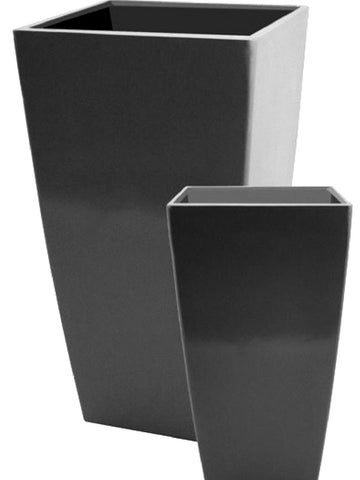 grp fibreglass Tall Black Gloss Planters UK