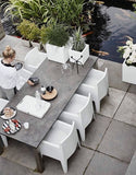 Modern White Square Planter Containers For The Garden