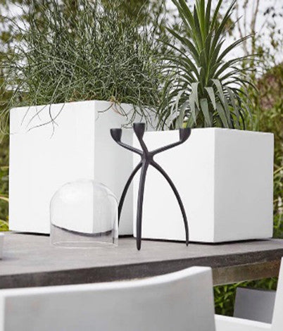 Modern White Square Planter