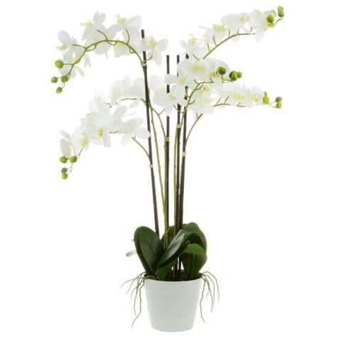 90cm Artificial Phalaenopsis Orchid In White Pot