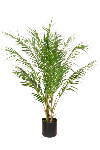 Deluxe faux potted areca palm