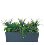 UV Artificial Mixed Greenery Trough Planter