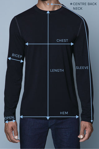 Tall size measurements for tall skinny guys by Navas Lab Apparel