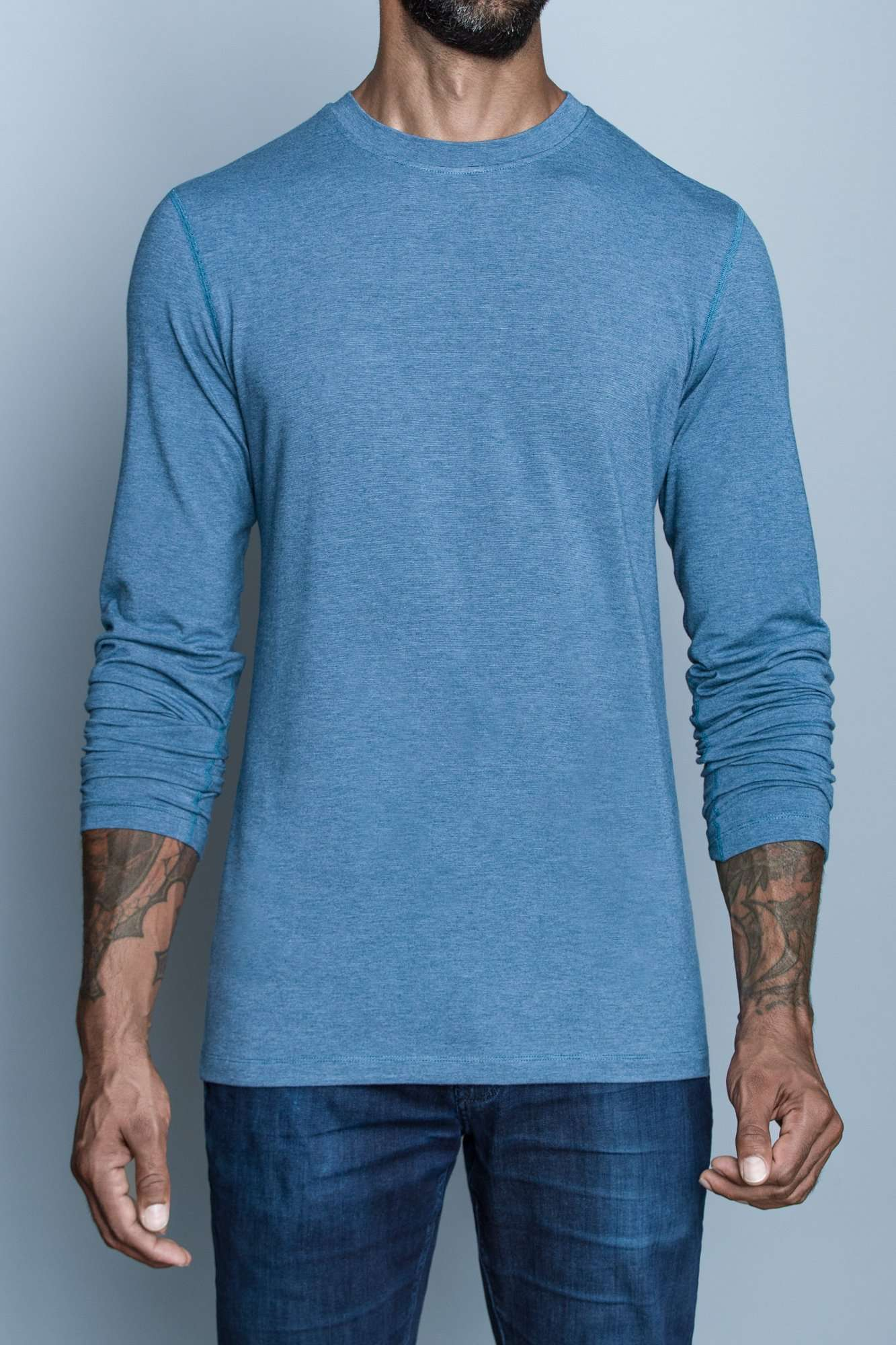 Mac Microstripe | Long-Sleeve Tall Shirt