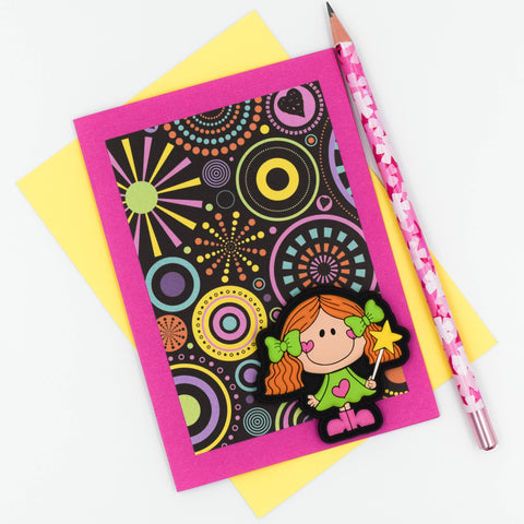 Pink Groovy Chick Birthday/Greeting Card