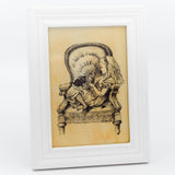 Small Framed Original Alice Chair Art Print