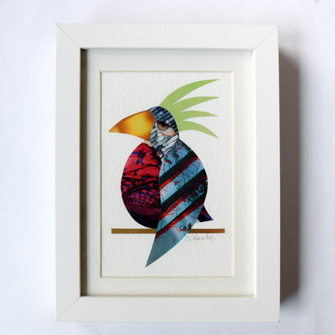 Pensive Polly - Framed Collage Art