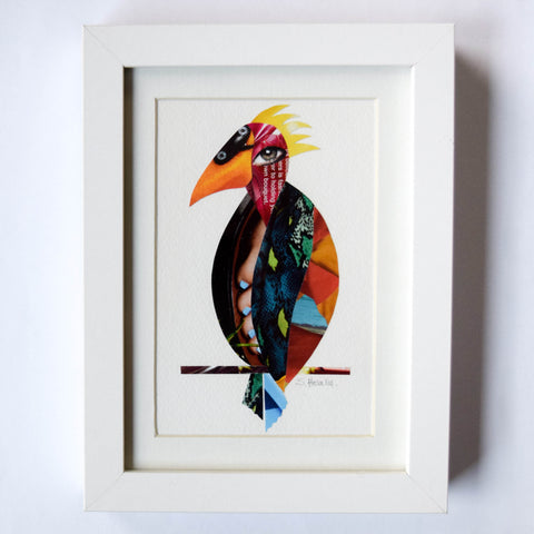 Toecan (Toucan) - Framed Collage Art