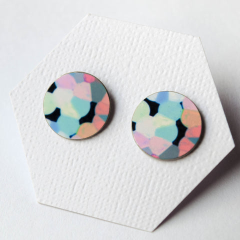Contemporary Stud Earrings - Colourful - Boldandstriking | incube8r gallery