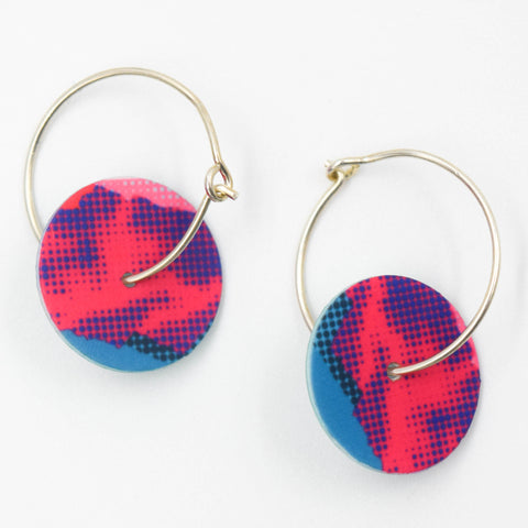 Nylon & Sterling Silver Earrings