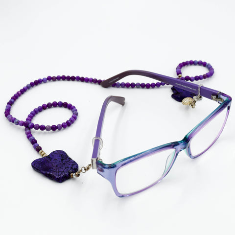 Couture Eye Glass Necklace - Purple - Jill Franche | incube8r gallery