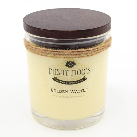 Golden Wattle - Mishy Moo's Wood Wick Pot Candle