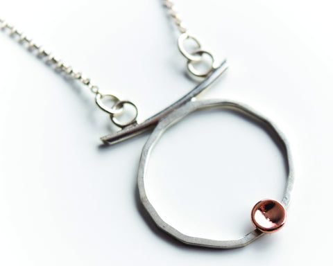 "Sterling Silver and Rose Gold Necklace ""Alchemy"" by Germano Arts"
