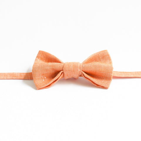 Bowtie in Apricot Linen by bties
