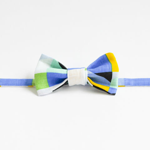 Bowtie in Blue & Yellow Geometric Pattern by bties