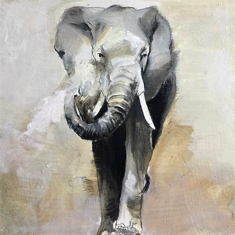 Elephant Original Oil Painting - Skye O'Shea | incube8r gallery