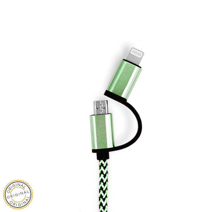 OFERTA: LOLO HIGH QUALITY CABLE 2IN1 GREEN - LOLO MY FIRST CELL PHONE