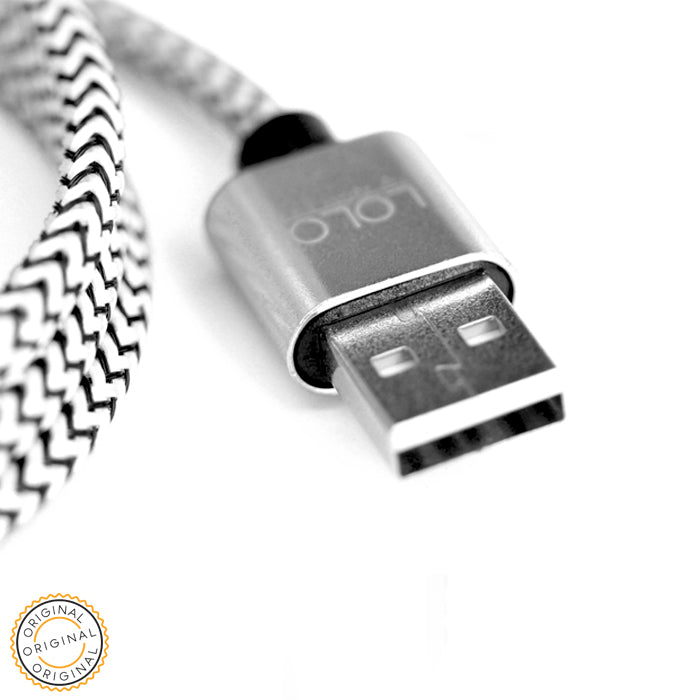 LOLO HIGH QUALITY CABLE 2IN1 SILVER - LOLO MY FIRST CELL PHONE