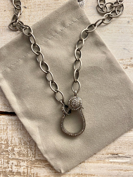 Plain Chain with Pave' Claw