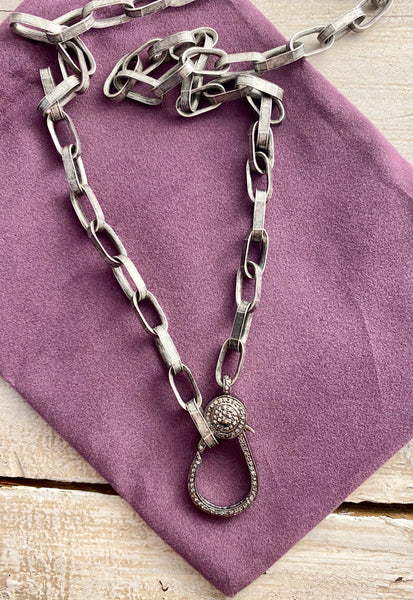Chunky Chain with Pave' Claw