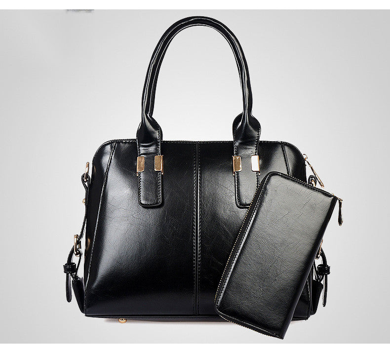 New Elegant Office Day 2 In 1 Bag Set Black