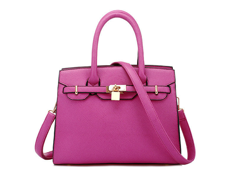 New Elegant Office Celebrity Fashion Bag  Hot Pink