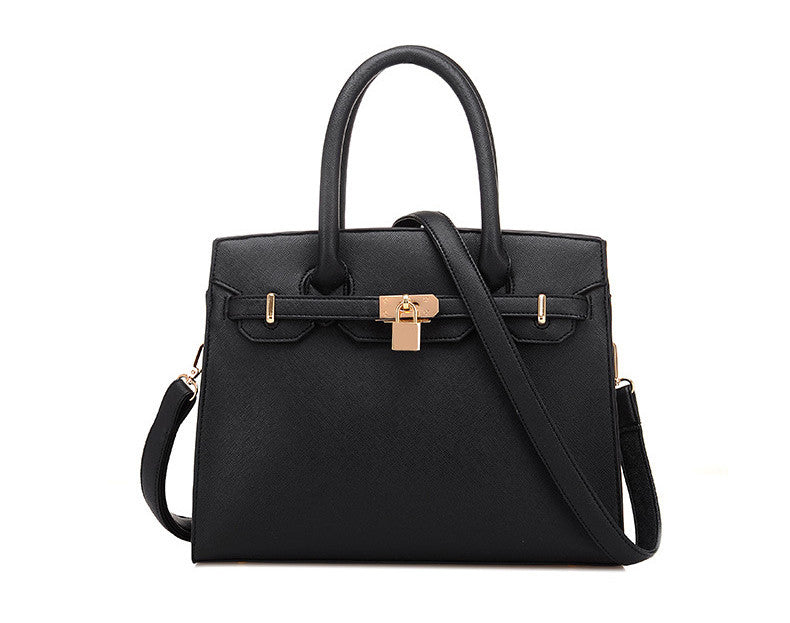 New Elegant Office Celebrity Fashion Bag  Black