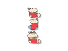 Load image into Gallery viewer, Christmas Sock Wall Decal