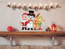 Load image into Gallery viewer, 3D Santa Group Wall Decal