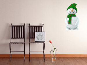 3D Snow Man Wall Decal