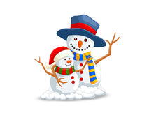 Load image into Gallery viewer, 3D Snow Man Wall Decal