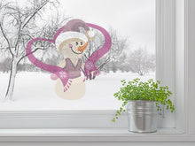 Load image into Gallery viewer, Sweet Snow Man Wall Decal