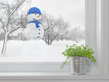 Load image into Gallery viewer, Render Snowman With Blue Wall Decal