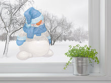 Load image into Gallery viewer, 3D Funny Snow Man Cartoon Wall Decal
