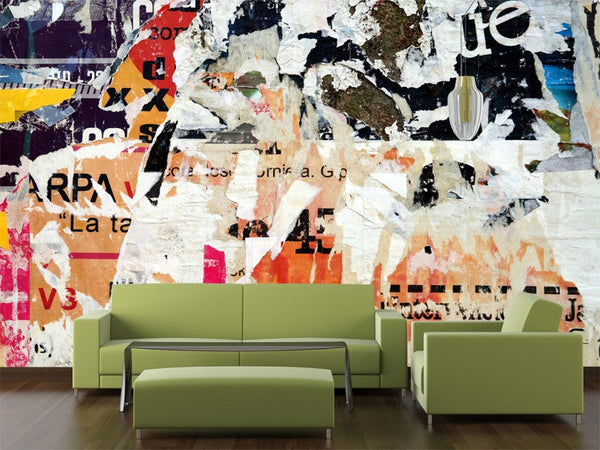 Abstract Advertisement Wall Mural