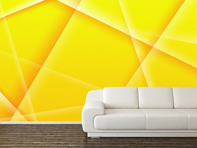 Abstract Background of Yellow Color Wall Mural – Majestic Wall Art