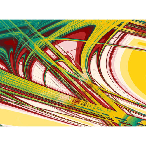 Abstract Curves Wall Mural