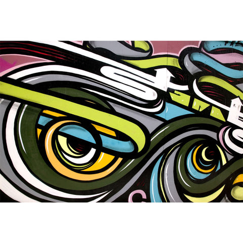 Abstract Graffiti Wall Mural