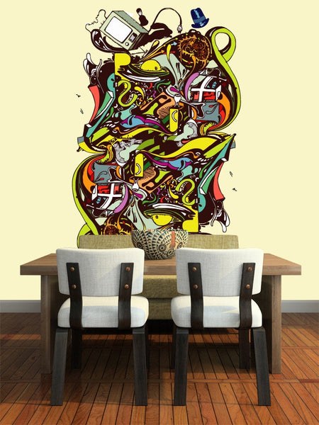 Abstract Illustration Wall Mural