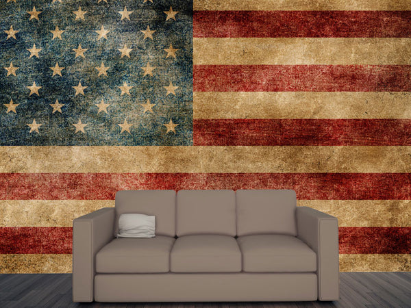 American Grunge Flag Wall Mural Majestic Wall Art