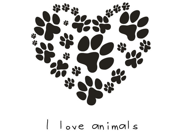 Animal Footprint Wall Decal