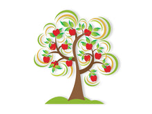 Load image into Gallery viewer, Apple Tree Wall Decal