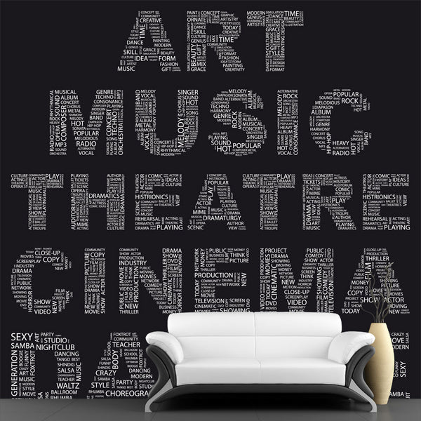 Art Word Collage Wall Mural