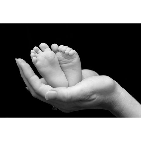 Baby Feet Held in Mothers Hands Wall Mural