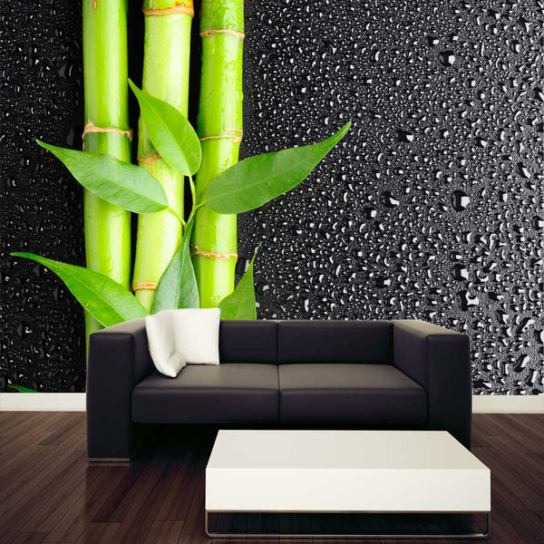 Bamboo Grove on Dark Wall Mural