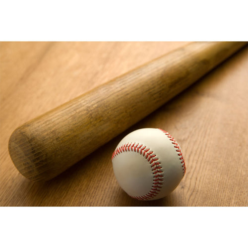 Baseball Bat and Ball Wall Mural