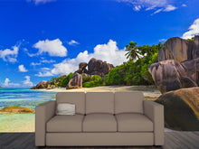 Load image into Gallery viewer, Beach in Seychelles Wall Mural