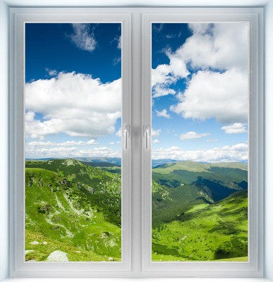 Beautiful Mountain Landscape Instant Window